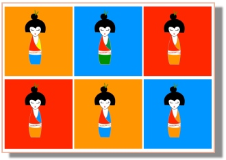 geisha colourful double lineup_2